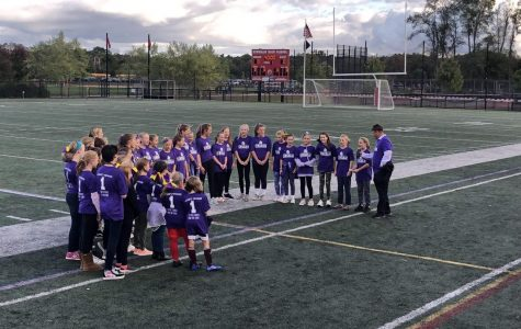 Maddie McCoy's friends from Plymouth River Elementary School and players from her team on Galway Rovers gathered to sing the national anthem at the start of each game.