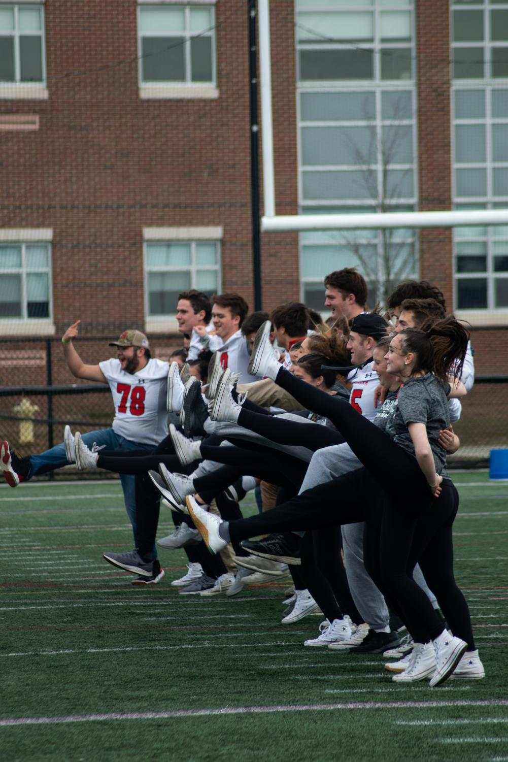 In a amusing event, the Football and Dance team showed their moves in an incredible dance routine.