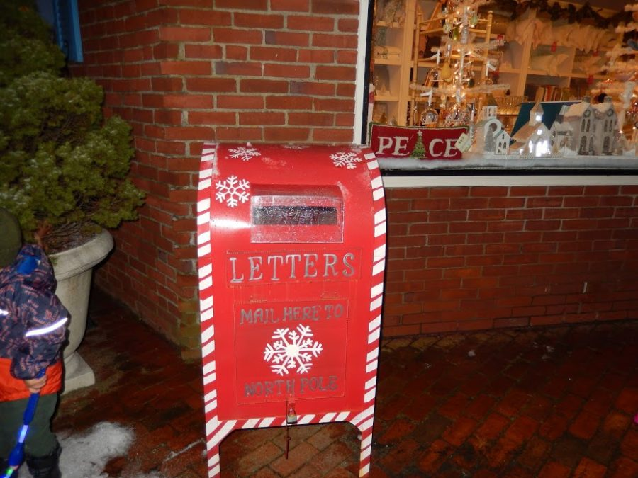 After writing their letters to Santa, children can mail their letters in this charming mailbox.