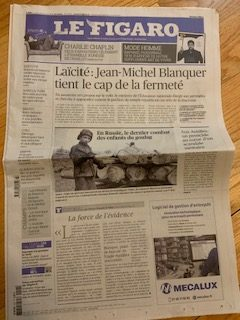 My copy of Le Figaro.