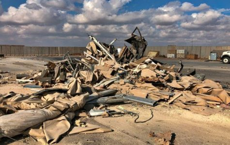 Rubble and debris are seen at Ain al-Asad air base in Anbar, Iraq, Monday, Jan. 13, 2020. Ain al-Asad air base was struck by a barrage of Iranian missiles on Wednesday, in retaliation for the U.S. drone strike that killed atop Iranian commander, Gen. Qassem Soleimani, whose killing raised fears of a wider war in the Middle East.