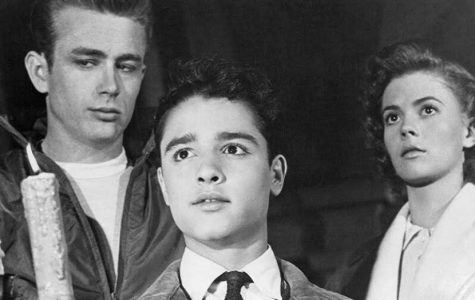James Dean, Sal Mineo, and Natalie Wood star in the 1955 film