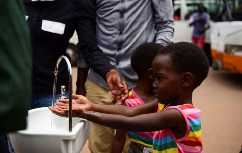 The city of Kigali installed portable hand washing stations all over the city, in hopes of increasing sanitation and fighting the virus.