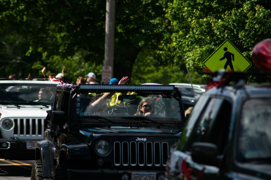 While the class of 2020 did not receive a normal send-off, their four years at Hingham High were commemorated through a car parade.