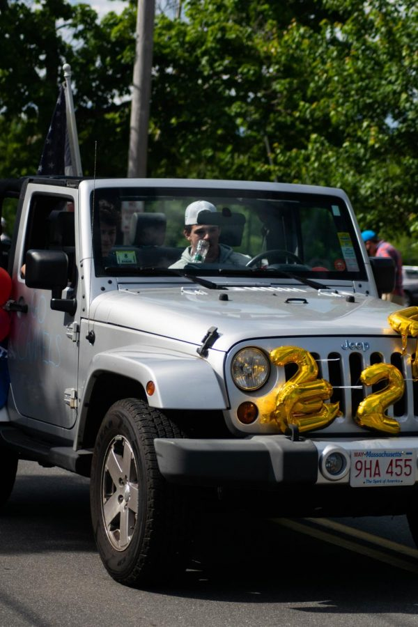 Many cars were decorated in streamers and extravagant balloons.