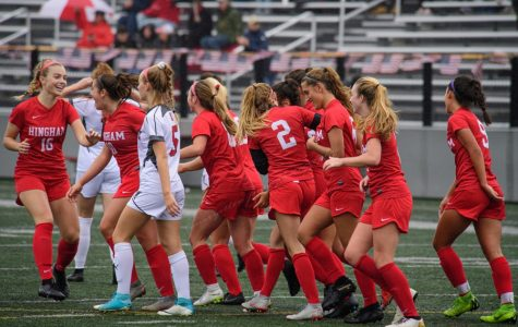 Hingham girls' soccer during the 2019 season. Although games will look different this year, the teams energy and talent remains.