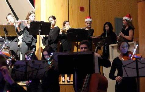 Band and orchestra students performed a piece together at the 2019 Winter Concert. Unfortunately, due to COVID-19 restrictions, concerts are unlikely to happen any time soon.