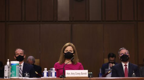 Hon. Amy Coney Barrett at the stand.