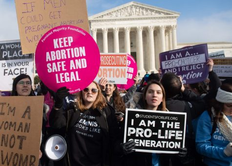 Women, both pro-choice and pro-life, protesting abortion laws in Washington D.C. on January 18th, 2019.
