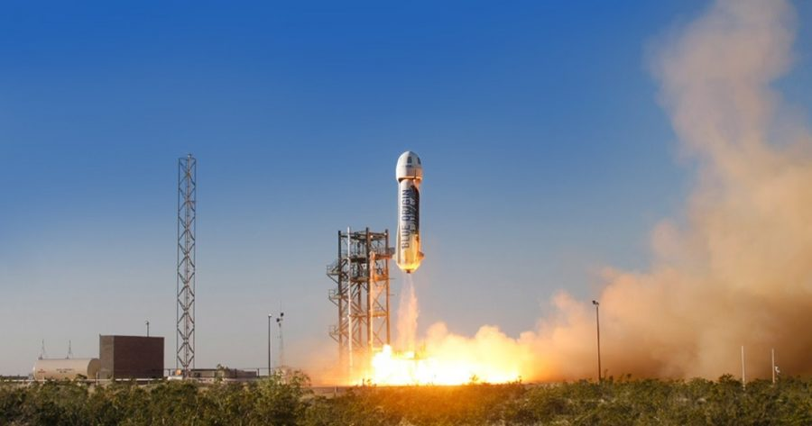 Billionaire Jeff Bezos founded a private rocket company, called Blue Origin, in 2000.