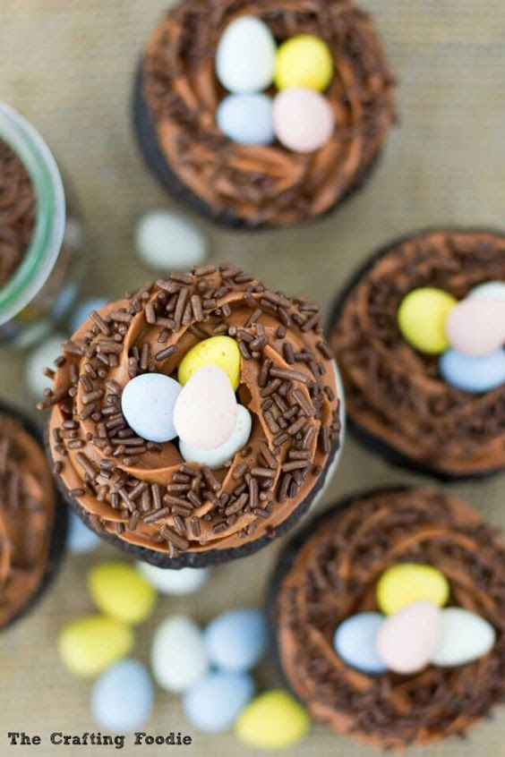 """""""Eggs in a Nest"""" Cupcakes"""