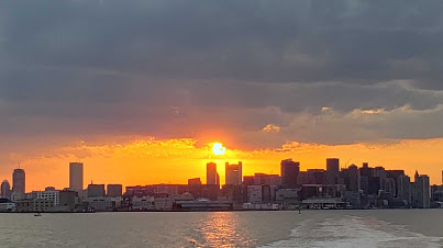 With warm weather here and COVID restrictions loosening, South Shore residents will soon enjoy this view from the MBTA ferry on Saturdays and Sundays.