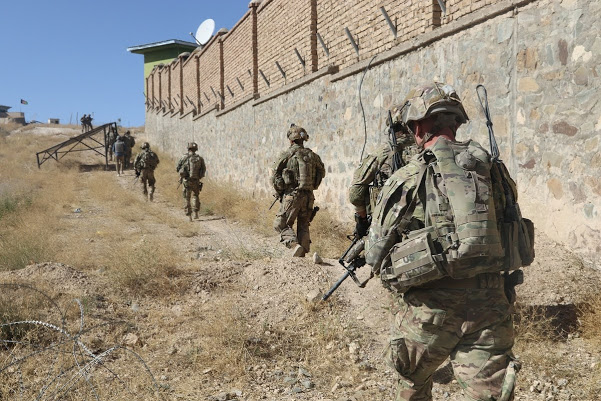 American soldiers operating in Afghanistan.
