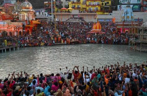 Indians gathered and celebrated the Kumbh Mela festival, one of the world