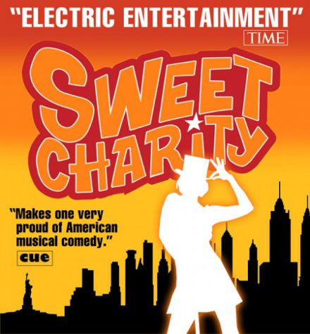 A Sweet Charity poster sparks excitement for the upcoming musical at HHS.